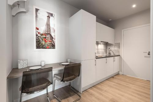 A kitchen or kitchenette at Executive Suites Moko