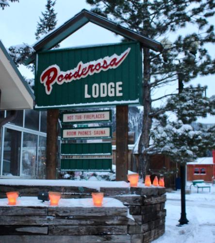 Ponderosa Lodge during the winter