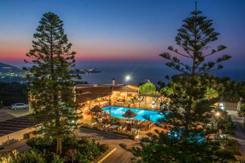 A view of the pool at Spiros-Soula Family Hotel & Apartments or nearby