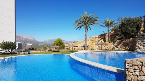 The swimming pool at or near Benidorm Sky