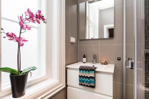 A bathroom at Josefinesgate Apartments