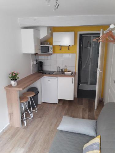 Cuisine ou kitchenette dans l'établissement Studio Tout Confort Centre Ville
