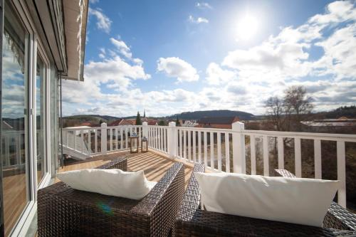 Un balcon sau o terasă la Haus Grünewald Unsleben