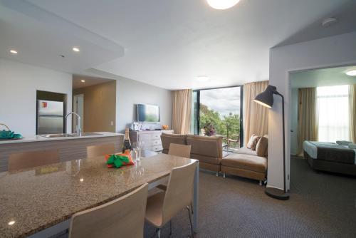 A kitchen or kitchenette at Quest Flemington Apartment Hotels