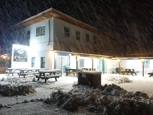 Bohemian Guest House and Pension during the winter
