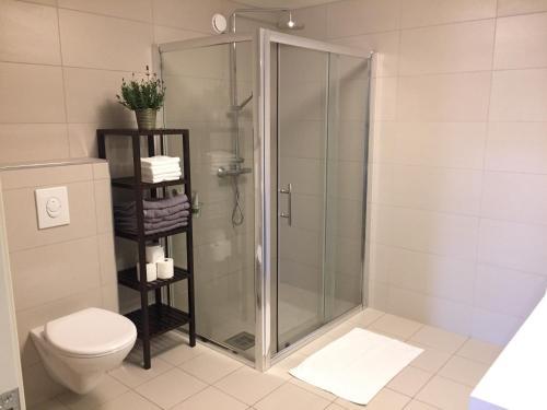 Kylpyhuone majoituspaikassa Apt. Grünerløkka SBG13