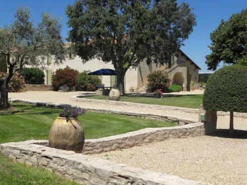 A garden outside Les Jardins de Bouteille