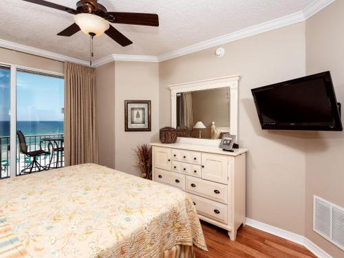 A television and/or entertainment center at Gulf Dunes 504 Apartment