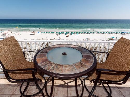 A balcony or terrace at Gulf Dunes 504 Apartment