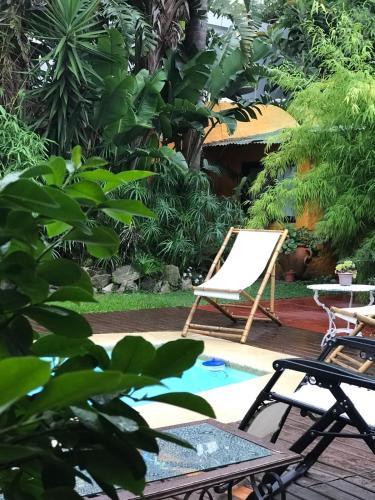 The swimming pool at or near Posada El Bambu