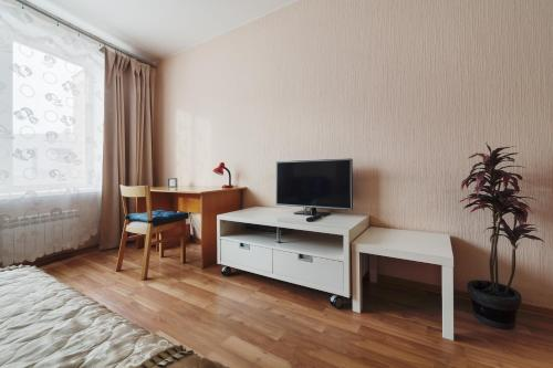 A television and/or entertainment center at ALLiS-HALL One-Bedroom Apartment at Radischeva 33