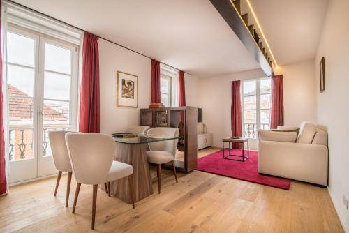 Istumisnurk majutusasutuses Santa Justa 77 - Downtown Luxury Apartments
