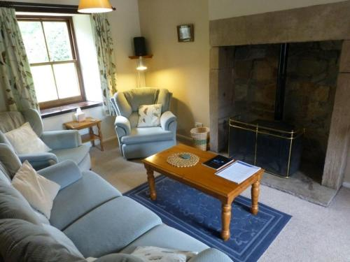 A seating area at Granary Cottage, Mosedale, Caldbeck Fells