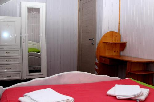 Кровать или кровати в номере Apart-Hotel Domodedovo