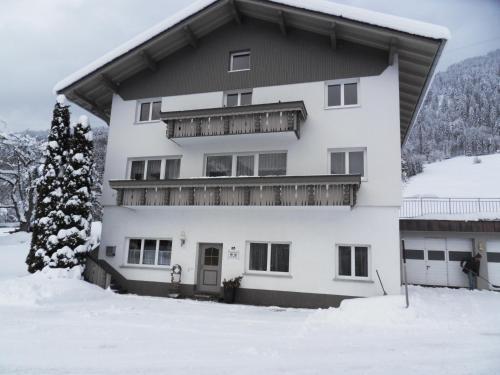 Haus Konzett during the winter