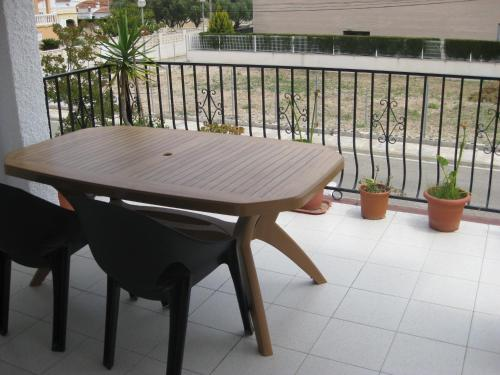 A balcony or terrace at Bungalow Parte Alta