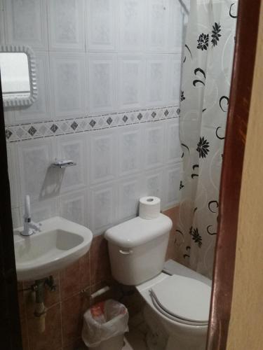 A bathroom at Apartamento Acuario Nacional