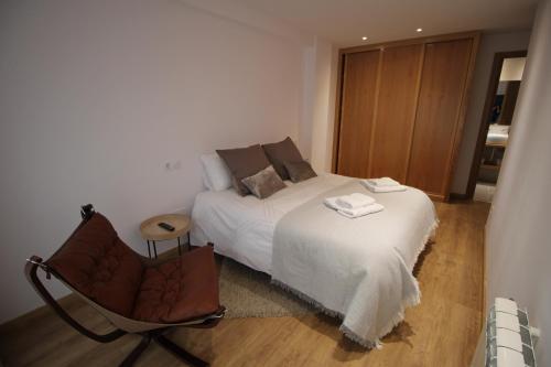 Posteľ alebo postele v izbe v ubytovaní Apartamento La Paz
