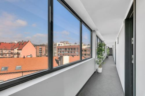 A balcony or terrace at Forenom Serviced Apartments Oslo Carl Berners Plass