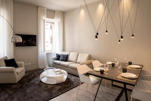 A seating area at Cinquanta4 Charme Apartment
