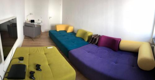 A seating area at Apartment Central Würzburg