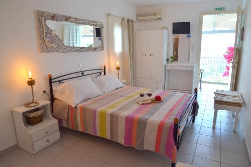 Cama o camas de una habitación en Garyfallos