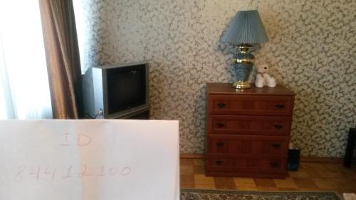 A television and/or entertainment center at Apartment on Chernigovskaya