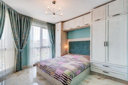 Кровать или кровати в номере Poseidon Apart Complex
