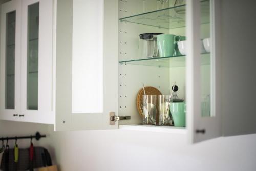 Kuhinja oz. manjša kuhinja v nastanitvi Pr' Kovač apartments