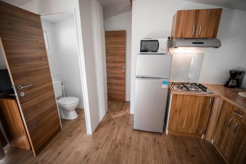 Kuhinja oz. manjša kuhinja v nastanitvi Mobile Homes with Thermal Riviera Tickets in Terme Čatež