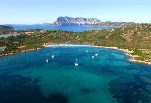 Een luchtfoto van Residence Baia Salinedda