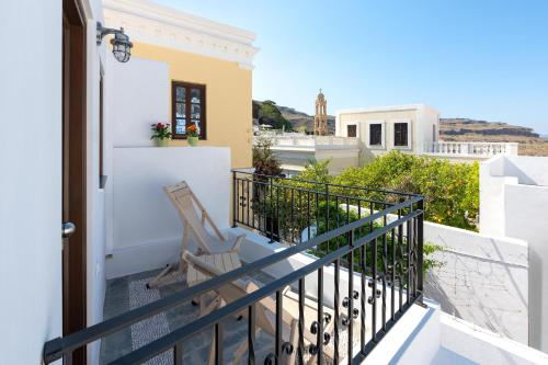 A balcony or terrace at Lindos Heart Apartments