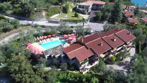 Letecký snímek ubytování Residence Miravalle