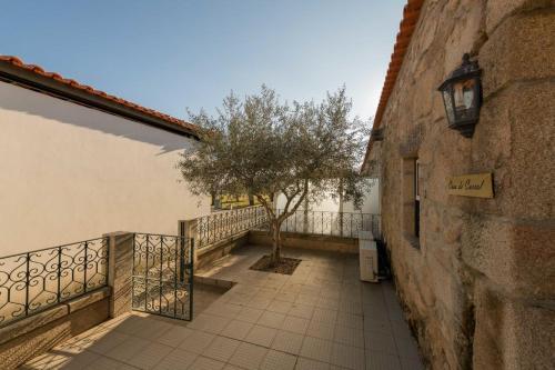 A balcony or terrace at Quinta Sta Luzia Carrascal