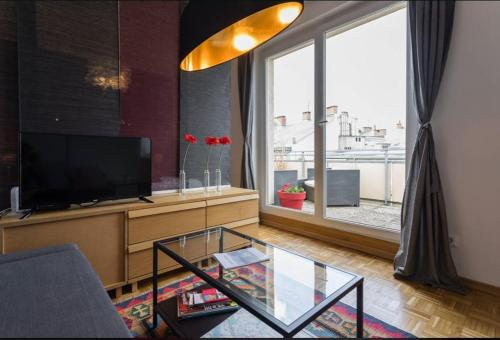A television and/or entertainment center at Apartment Visit Vienna