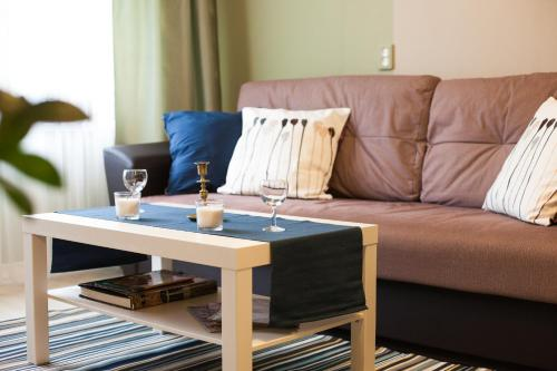 Area soggiorno di Apartment on Ozerkovaya