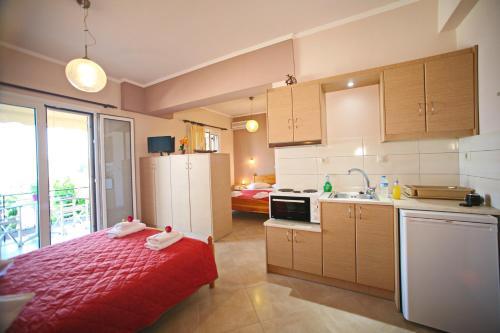 Η κουζίνα ή μικρή κουζίνα στο Valedina Rooms