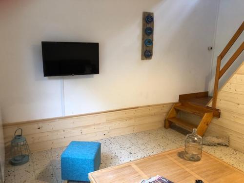 Télévision ou salle de divertissement dans l'établissement Villa Coquelicot Plage