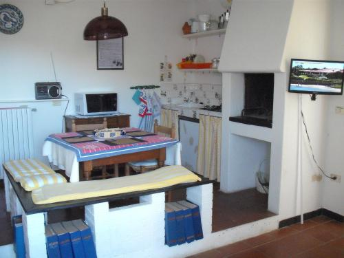 A kitchen or kitchenette at Cà Gialla