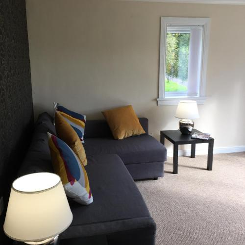 A seating area at West Field Apartment