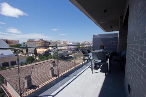 A balcony or terrace at InmoSantos Apartaments Nuria