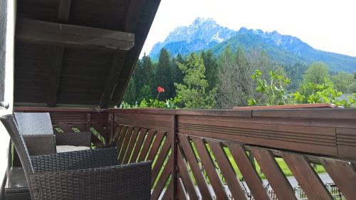 Balkon oz. terasa v nastanitvi Apartments Mertelj