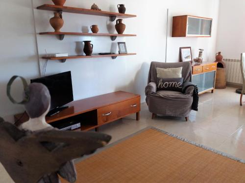 A television and/or entertainment center at EriHouse
