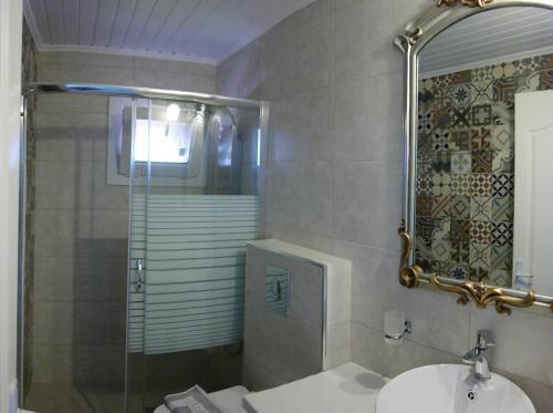 Ένα μπάνιο στο Hotel Avra