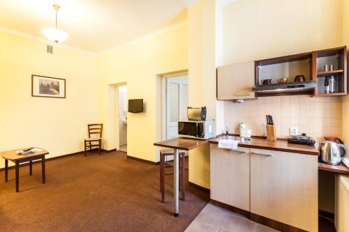 Una cocina o zona de cocina en Krakow City Apartments