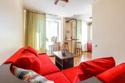 A seating area at Luxcompany Apartment Krasnaya Presnya