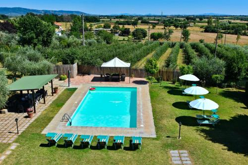 A view of the pool at Villa Il Palazzo or nearby