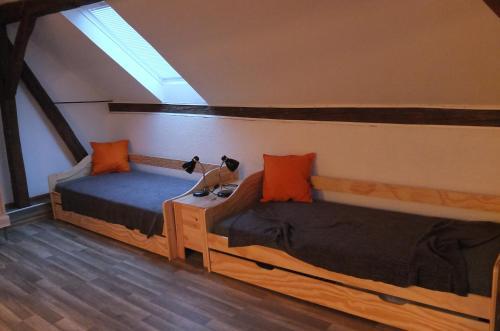 Postel nebo postele na pokoji v ubytování Apartman75