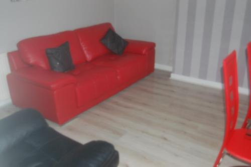 A seating area at elegant apartment in knightswood area of glasgow