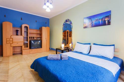 En eller flere senge i et værelse på Apartment near Gulliver